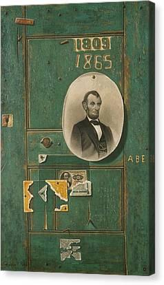 Reminiscences Of 1865 Canvas Print by John Frederick Peto