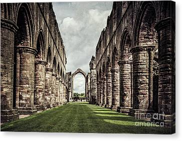 Medieval Temple Canvas Print - Remnants Of Beauty by Evelina Kremsdorf