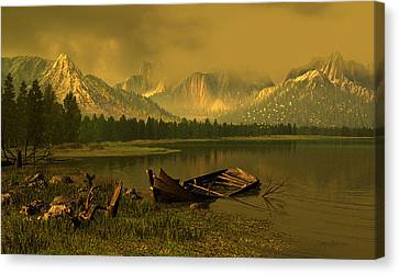 Remnants Of Time Canvas Print by Dieter Carlton