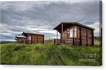 Canvas Print featuring the photograph Remote Cabins Myvatn Iceland by Edward Fielding