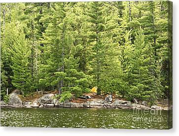 Remote Campsite Canvas Print by Larry Ricker