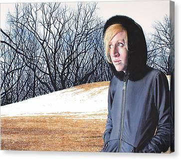 Remote Canvas Print by Denny Bond