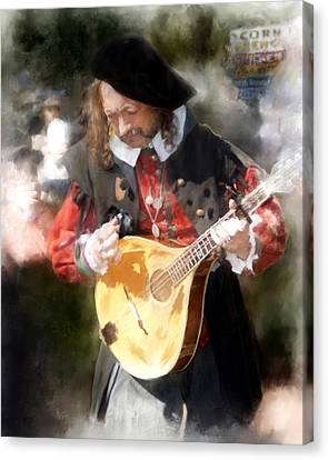 Renaissance Musician Canvas Print by Fred Baird