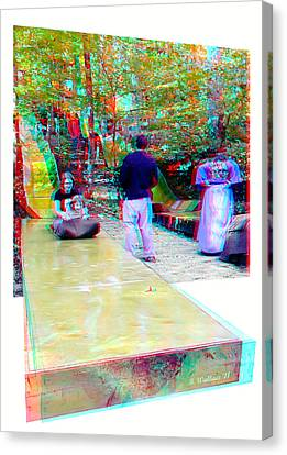 Canvas Print featuring the photograph Renaissance Slide - Red-cyan 3d Glasses Required by Brian Wallace