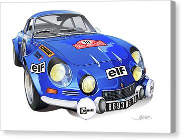 Race Canvas Print - Renault Alpine A110 by Alain Jamar