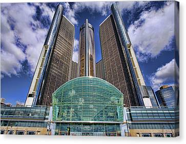 Rencen Detroit Gm Renaissance Center Canvas Print by Gordon Dean II