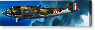 French Aircraft Of World War II  French Bomber Canvas Print by Wilf Hardy
