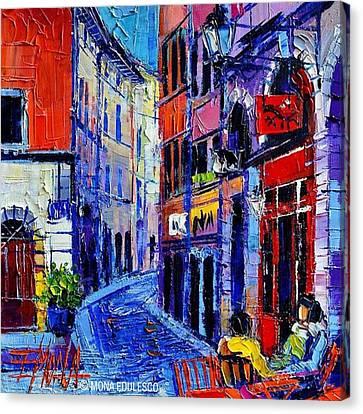 rendez-vous In Vieux Lyon 25x25 Cm Canvas Print