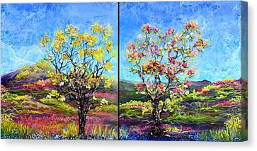 Renew And Refresh Diptych Orientation 2 Canvas Print by Regina Valluzzi
