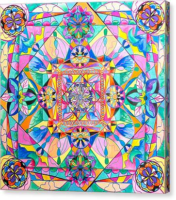 Frequency Products Canvas Print - Renewal by Teal Eye Print Store