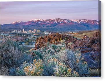 Canvas Print featuring the photograph Reno Nevada Spring Sunrise by Scott McGuire