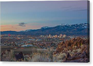 Reno Spring Sunrise Canvas Print by Scott McGuire