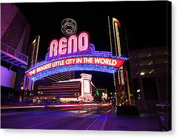 Canvas Print featuring the photograph Reno - The Biggest Little City In The World by Shawn Everhart
