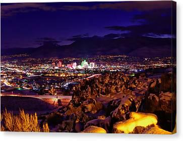 Reno Winter  Canvas Print by Scott McGuire