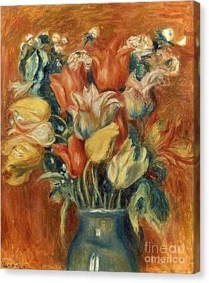 Renoir: Bouquet Of Tulips Canvas Print by Granger