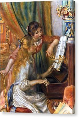 Renoir: Girls/piano, 1892 Canvas Print by Granger