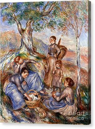 Grape Pickers Canvas Print - Renoir: Grape Pickers by Granger