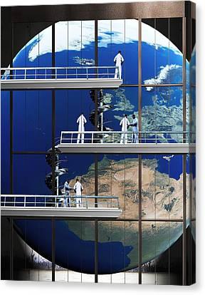 Repairing Earth Canvas Print by Christian Darkin