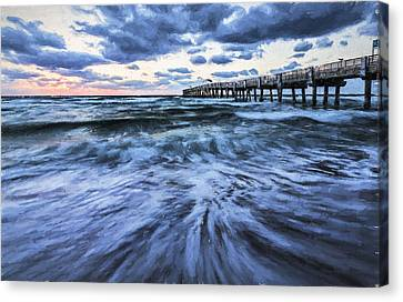 Pier Canvas Print - Repeated Morning IIi by Jon Glaser