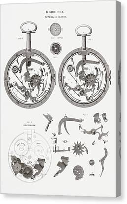 Repeating Watch. From The Cyclopaedia Canvas Print
