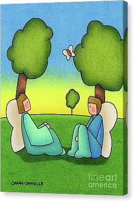 Green Fairy Canvas Print - Repose by Sarah Batalka