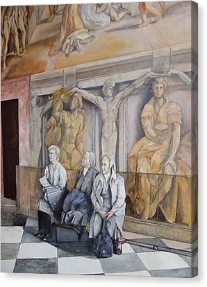 Reposo En El Vaticano Canvas Print by Tomas Castano