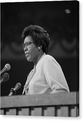 Representative Barbara Jordan Delivers Canvas Print by Everett