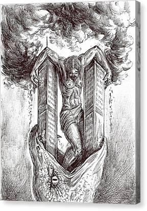 reptilluminatidomination II Canvas Print by Darwin Leon