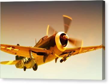 Republic P-47 Thunderbolt 2011 Chino Air Show Canvas Print by Gus McCrea