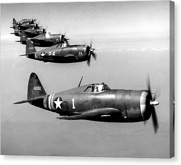 Republic P-47 Thunderbolts, Circa 1943 Canvas Print by Everett