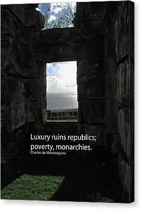 Republics And Monarchies Canvas Print by Ian  MacDonald