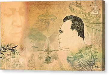 Profile Canvas Print - Requiem For An Emperor by Andrea Ribeiro