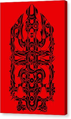 Indian Ink Canvas Print - Requiem IIi by David Umemoto