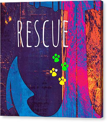 Rescue Anchor Canvas Print