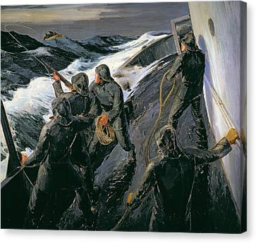 Rescue Canvas Print by Thomas Harold Beament