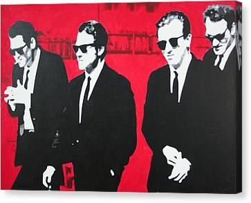 Reservoir Dogs 2013 Canvas Print by Luis Ludzska