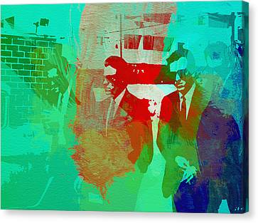Reservoir Dogs Canvas Print by Naxart Studio