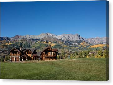 Canvas Print featuring the photograph Residences In Mountain Village -- A Planned Community Adjacent To Telluride by Carol M Highsmith