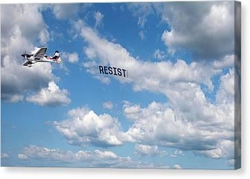 Resist Airplane Canvas Print
