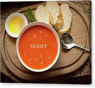 Resistance Alphabet Soup Canvas Print