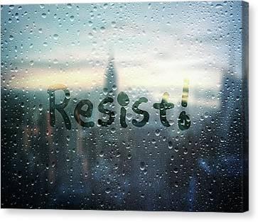 Resistance Foggy Window Canvas Print