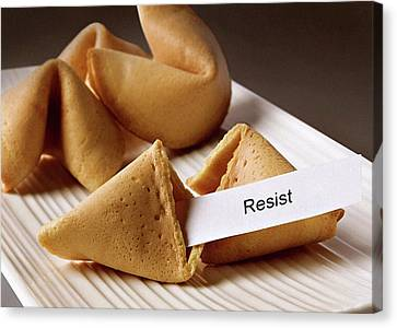 Resistance Fortune Cookie Canvas Print