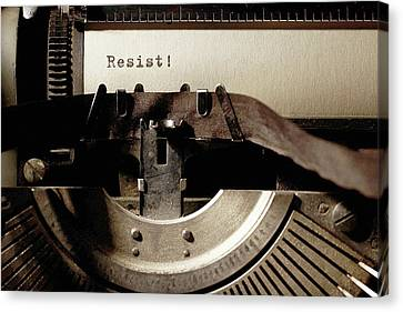 Resistance Typewriter Canvas Print
