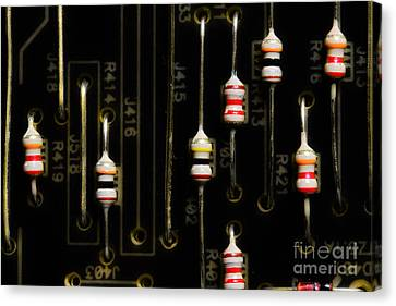 Electronic Component Canvas Print - Resistors by Michael Eingle