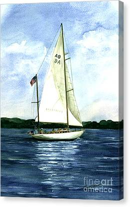Canvas Print featuring the painting Resolute by Nancy Patterson