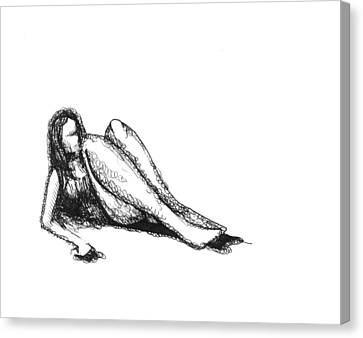 Canvas Print featuring the drawing Respite by Keith A Link