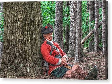 Rest From The March Royal Highlander Canvas Print by Randy Steele