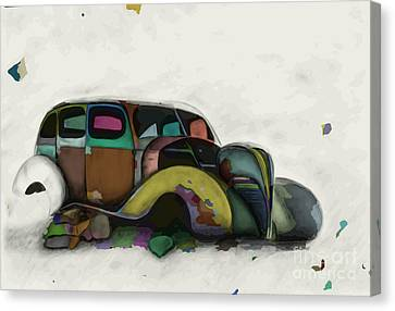 Sombre Canvas Print - Rest In Peace Loyal Friend - Colourise by Jennifer Van Niekerk