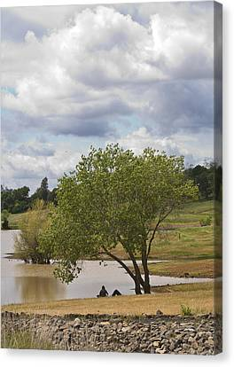 Rest Stop By The Lake Canvas Print by Charlie Osborn