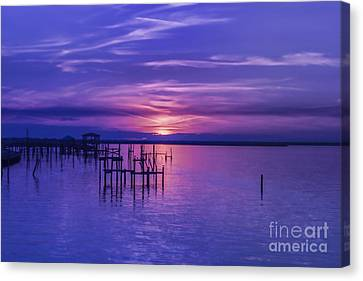 Rest Well World Purple Sunset Canvas Print